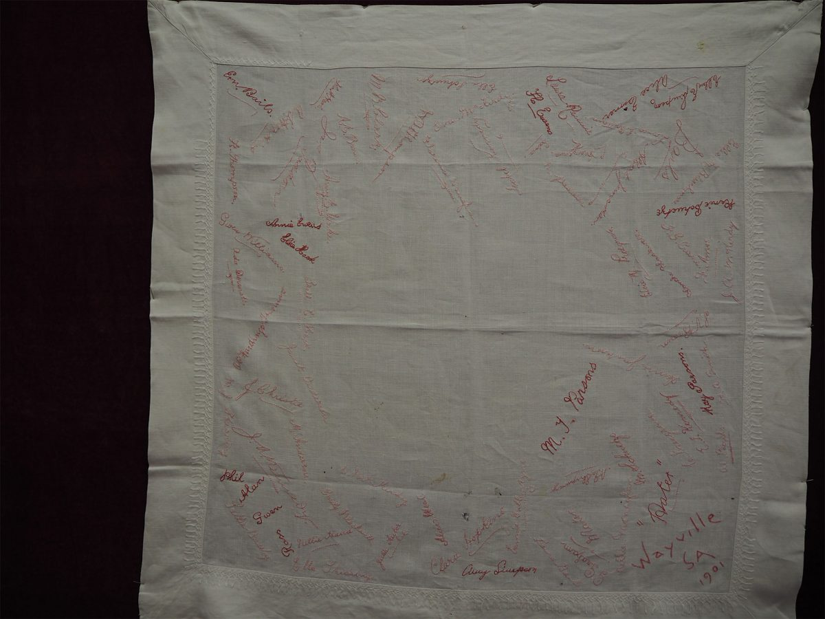 Wayville SA 1901: Cloth