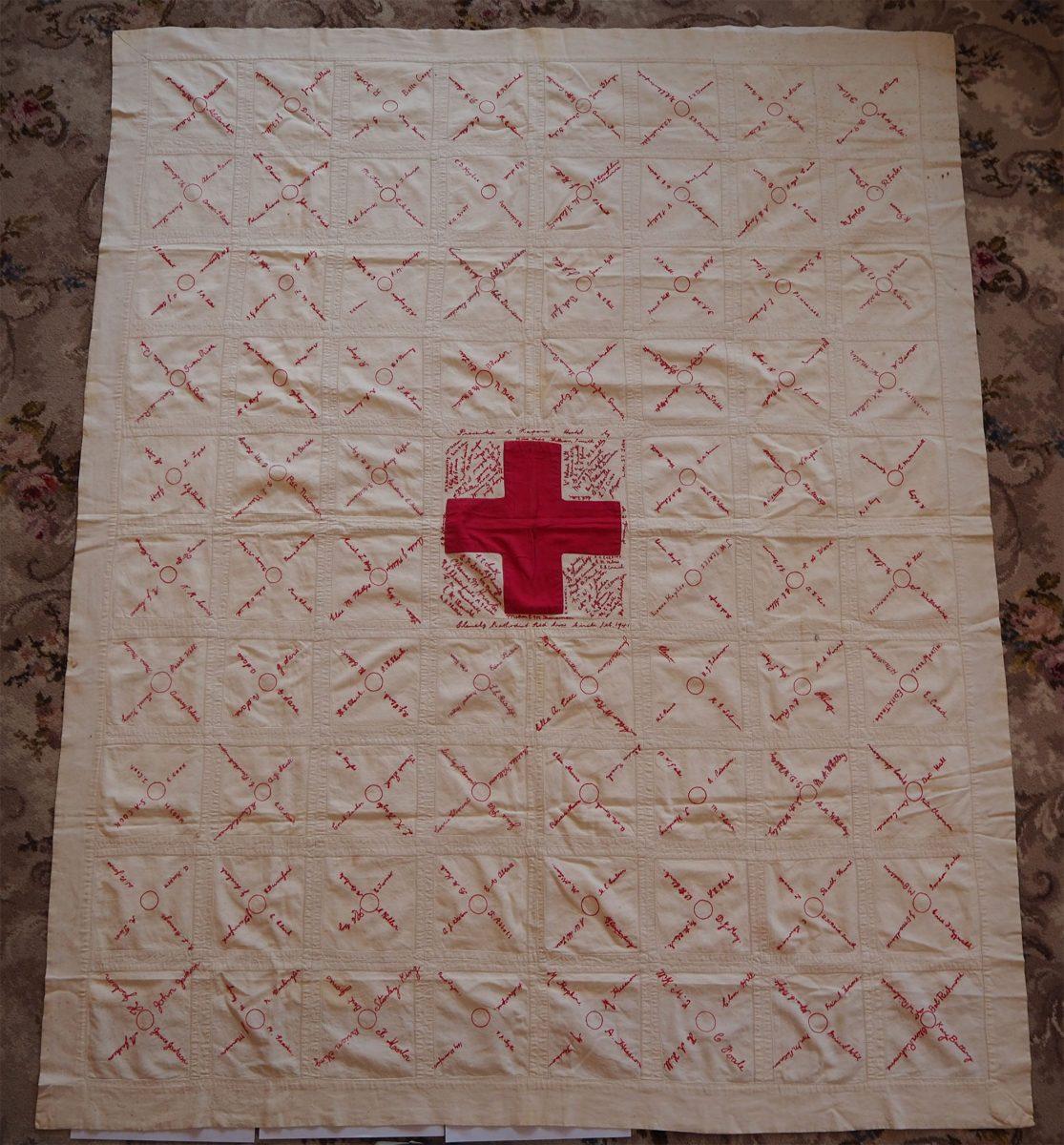 Red Cross. Glenelg Methodist Red Cross Circle 1941: Quilt
