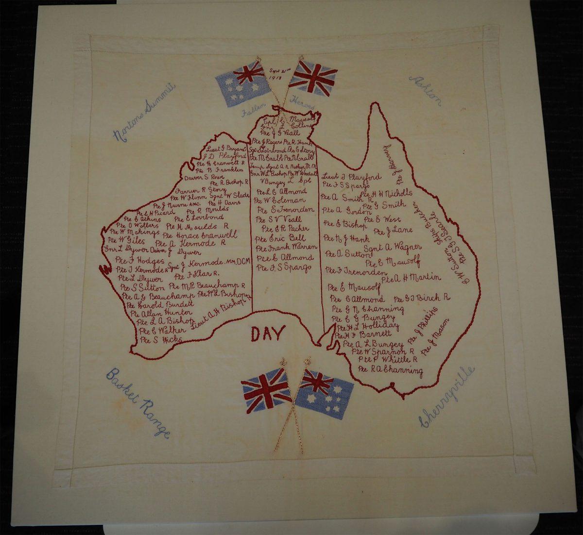 Fallen Heroes Sep 21st 1918: Cloth