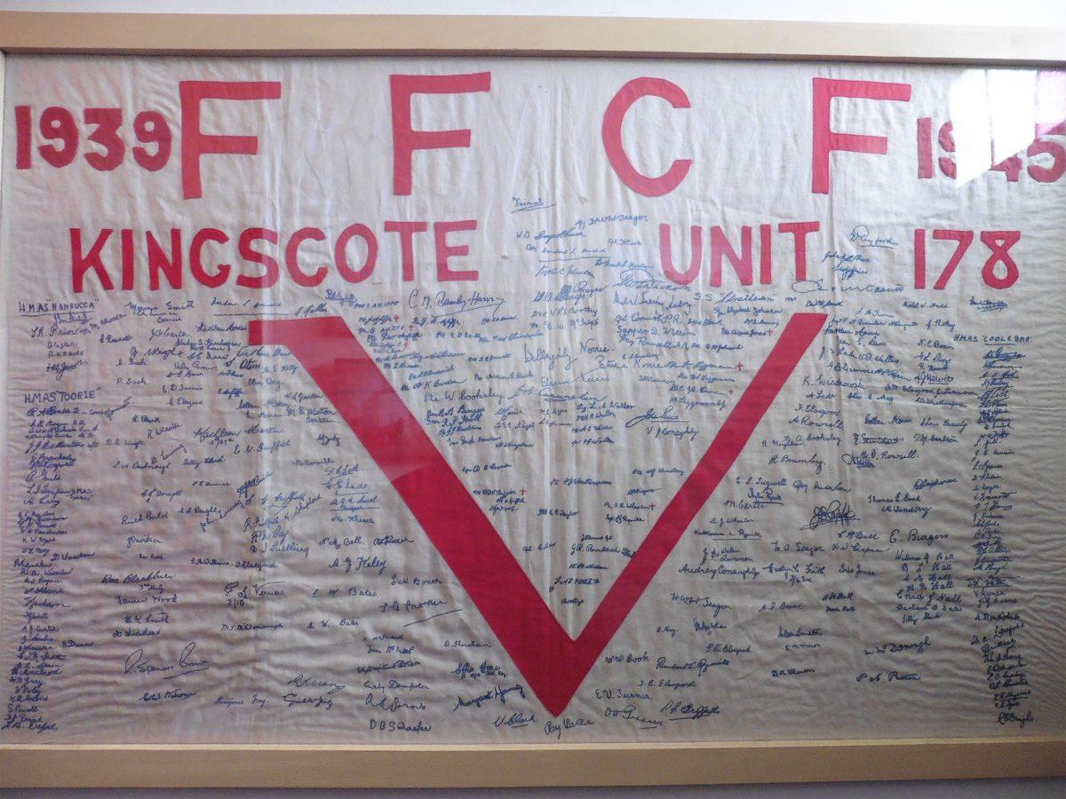 FFCF. Kingscote Unit 178. 1938 – 1945: Banner