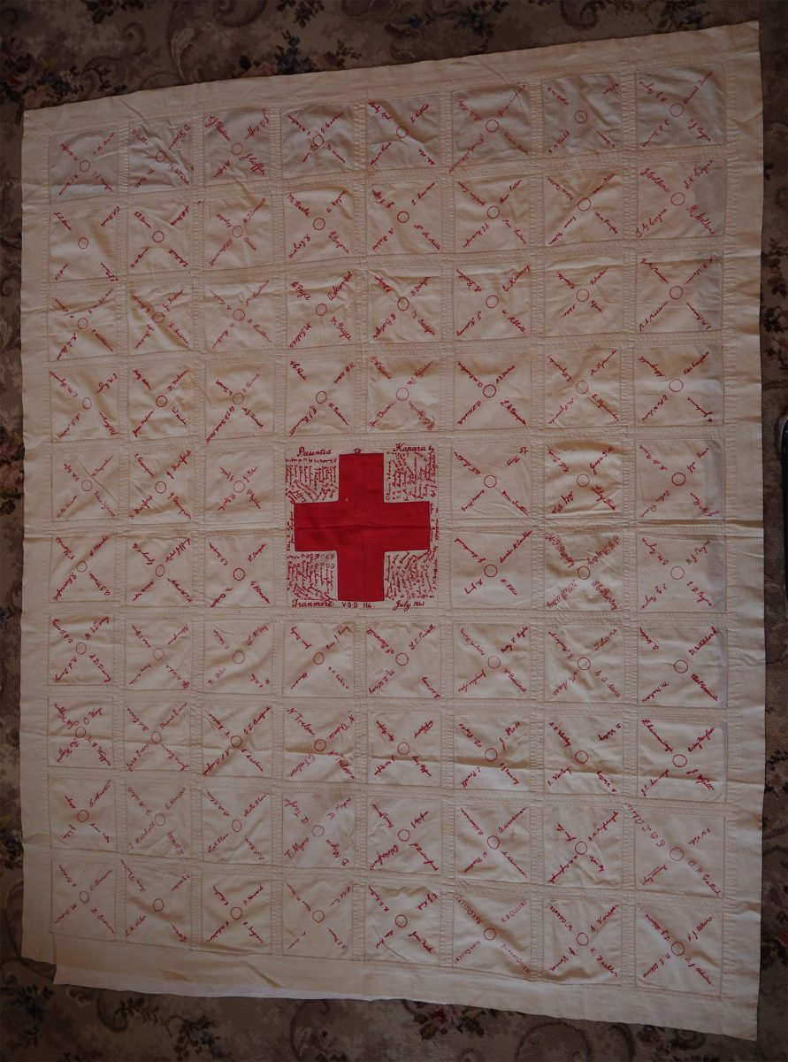 Red Cross. Tranmere VSD: Quilt