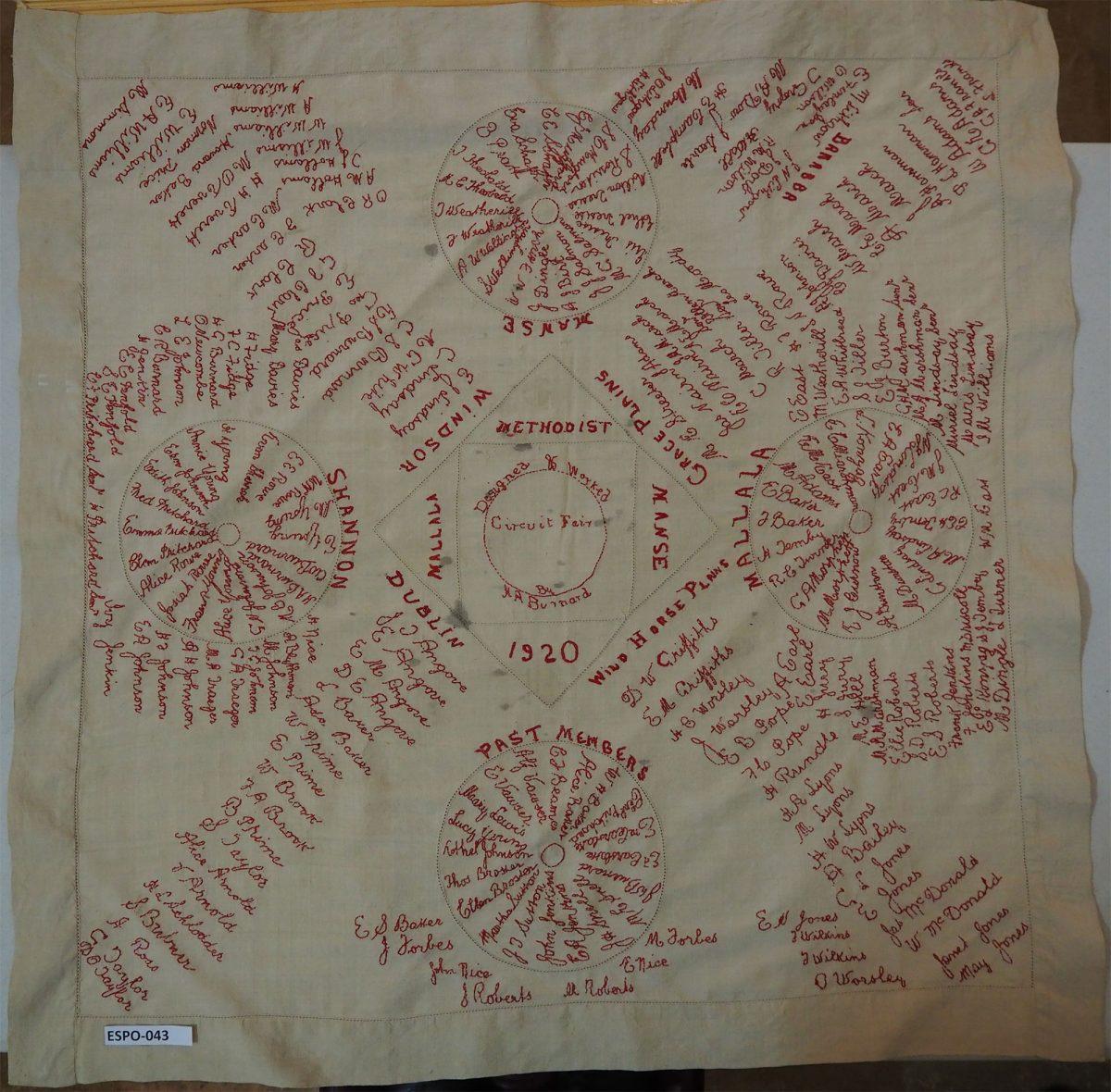 Mallala Methodist Manse 1920: Cloth